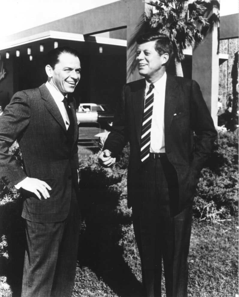 Frank-Sinatra-and-John-F-Kennedy sands las vegas